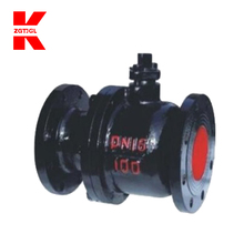 Motorized control gas flange ball valve ball