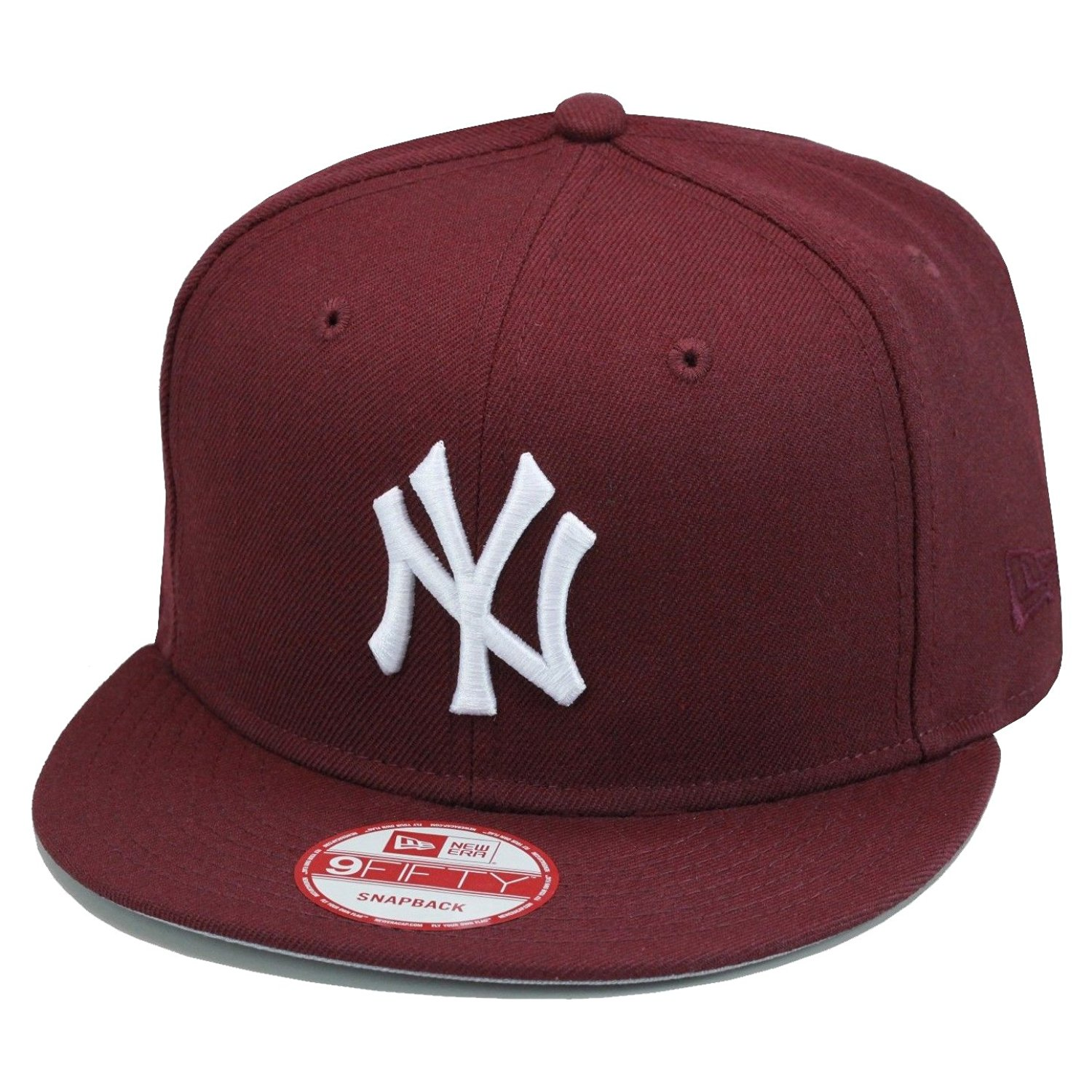 bc550a80d82 Get Quotations · New Era 9fifty New York Yankees Snapback Hat Cap All  Maroon White MLB Baseball