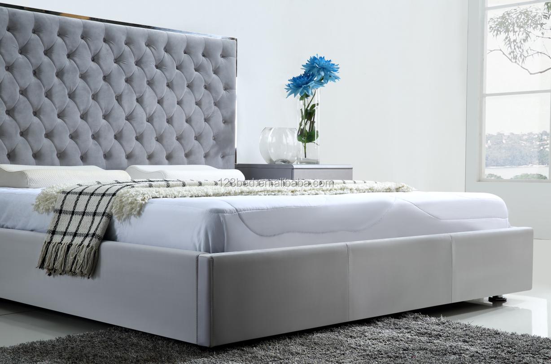 Nieuwste ontwerp populaire moderne groothandel master slaapkamer fluwelen bed C029