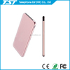10000mah slim portable charger power bank with cable