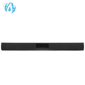 2018 slim bass stereo rechargeable bluetooth car sound bar speaker
