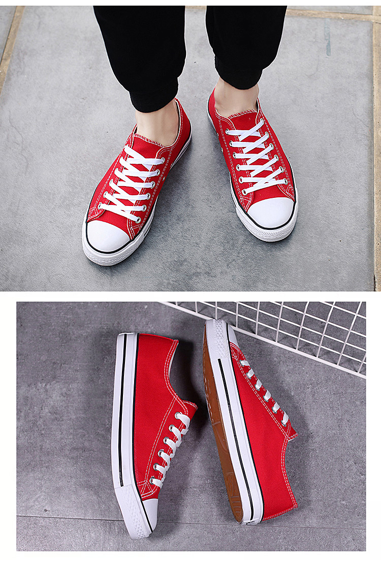 Factory Classic Canvas Shoes Vulcanized Couples Casual Canvas Shoes Wholesale