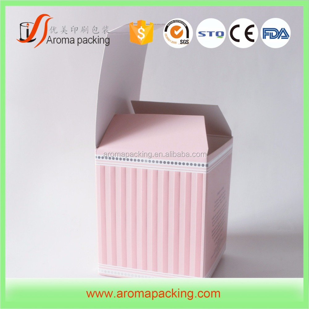 China Factory Custom cardboard candle packaging boxes , paper candle box , square candle box