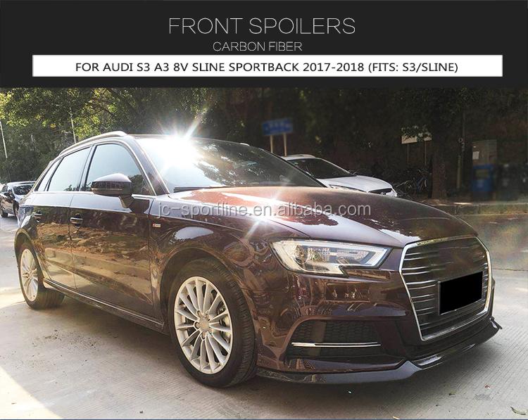 Customized S3 Carbon Fiber Front Lip For Audi S3 8v A3 Sline Sportback 17 18 Buy S3 Front Lip Splitter Front Lip Splitter For Audi S3 S3 Carbon