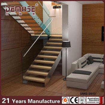 Glass Railing Folding Attic Stairs