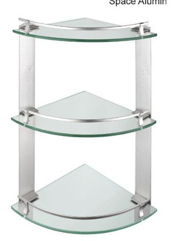 aluminum 3tier glass shelf bracket