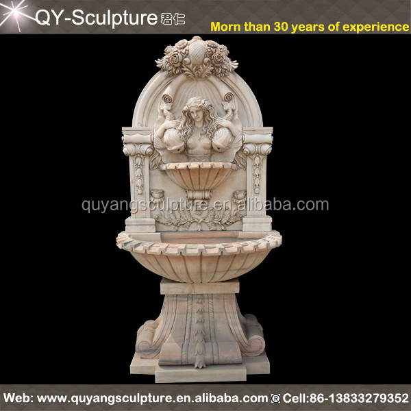 Garden Decor Wall Mounted Water Fountain with Fish