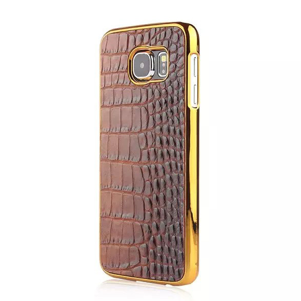 Plating Fake Crocodile Pc Hard Case For Samsung Galaxy S6 Mobole Phone Case