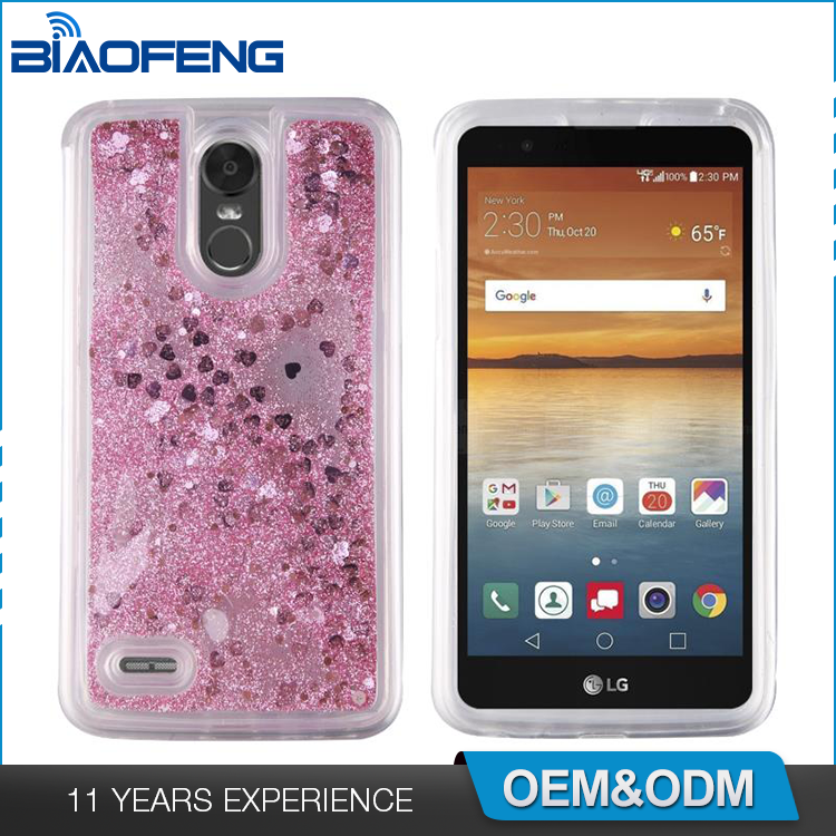 Stylish Glitter Design Luxury Quicksand Tpu Cell Smartphone Cover Liquid Phone Mobile Case For Lg Stylo 3 K10 Pro