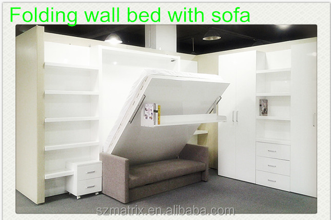 verborgen wand bett klappbett faltwand bett mit sofa. Black Bedroom Furniture Sets. Home Design Ideas