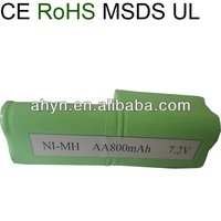 Ni-MH rechargeable AA 800mah 7.2V battery packing