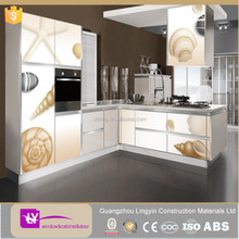 newest effects 3D modern kitchen cabinets with high quality kitchen accessories