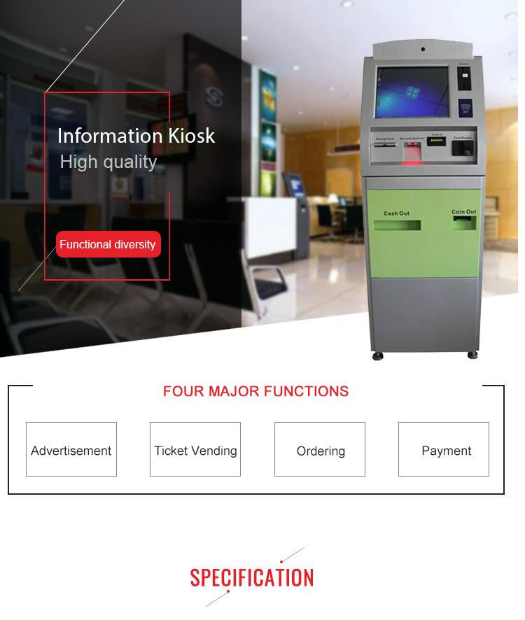 Sunson Kiosque Libre service Terminal Pc Clavier En Métal