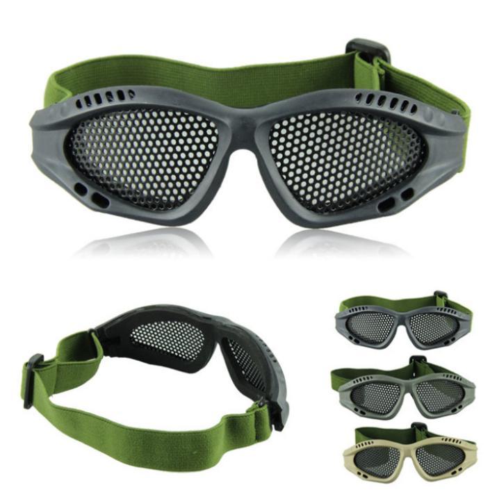 Фантастический открытый катание на лыжах езда охота тактический очки игра Airsoft металлическая сетка глаз очки защита