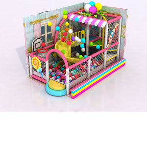 Factory demon slide indoor children playground Free design candy theme on sale kid indoor playground