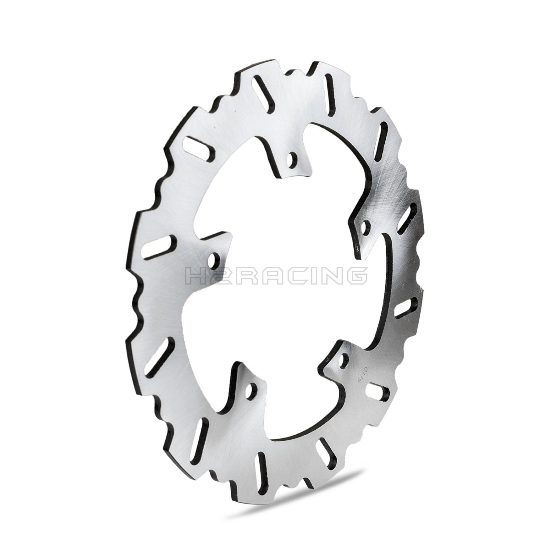 H2RACING 250mm Wave Rear Brake Disc Rotor for Yamaha YZ125/YZ250/WR250F 2001-2016 YZ250F 01-15 YZ450F 03-15 WR450F 2003 2004 2005 2006 2007 2008 2009 2010 2011 2012 2013 2014 2015 2016