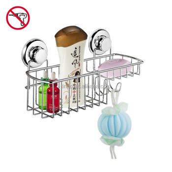 Bathroom Accessories Ful Vacuum Suction Cup Shower Caddy Basket For Shampoo