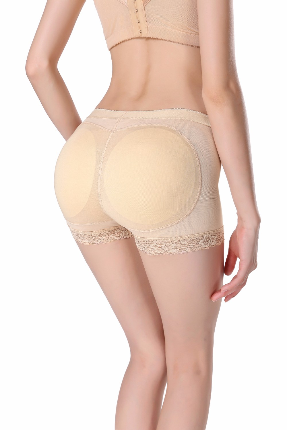 Womens Seamless Sexy Butt Lifter Padded Lace Panty Enhancer Underwear Girls lace Booty Booster Briefs 5
