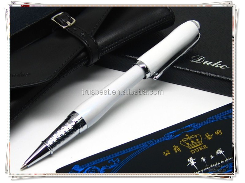 Hot Christmas gift Duke Pearl White gel pen, top-quality roller pen for women