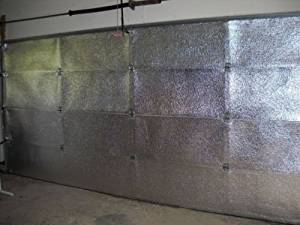 NASA TECH Reflective Foil Platinum Double Car (5 Panel) Garage Door Insulation Foam Core Kit Fits Double Garage Car Doors up to 16ft by 7ft NASA Technology MADE IN THE USA