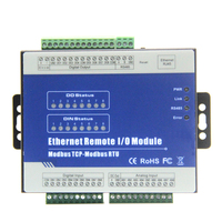 Modbus TCP Ethernet Remote IO Module+RS485+RJ45+AIN+DIN+relay output RS485 to RJ45 Converter