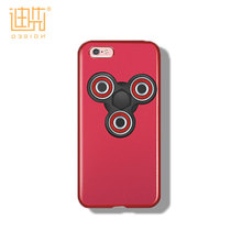 Newest toy hand finger spinner toy with PC material mobile phone case for Iphone 6/6s