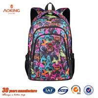 Low price 2016 latest fashionable active new famous brand name export fancy different models young teenage wholesale school bags