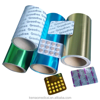Lacquer coated aluminium foil for blister packing