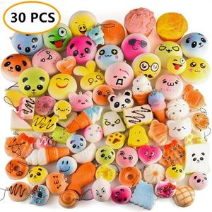 Mskwee 30 pcs promotional products craft squishy pack Mixed packaging slow rising bread squishy toys Bread Donut squishy
