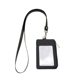 High Quality PU Coin Wallet Leather Work Badge Card Holder With Lanyard Neck Strap