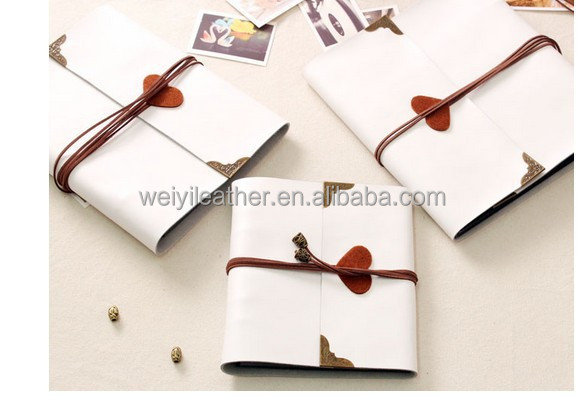 Wholesale Custom White Color Printed Soft PVC Sheet PU Leather Self Adhesive Sheets Photo Album