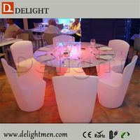 Cafe shop table waterproof illuminated RGB remote control led 3d colors wedding chairs