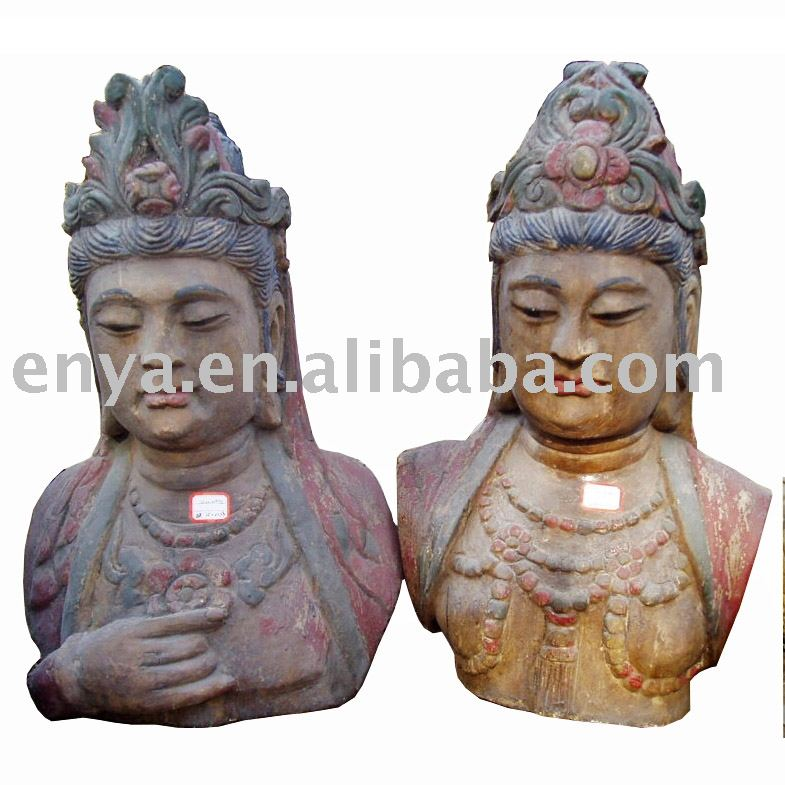 KuanYin (Kuan Yin) Statue/sculpture/Figure, Antique Wood Carving, religious crafts