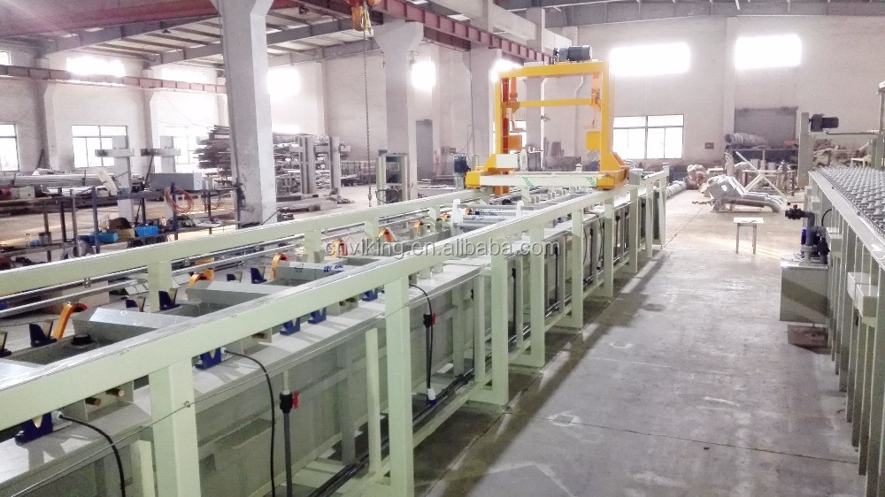 Automatic crane-type electroplating equipment barrel plating line