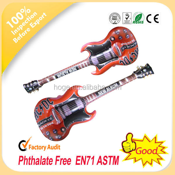 Colourful PVC ,TPU inflatale party guitar for promotion