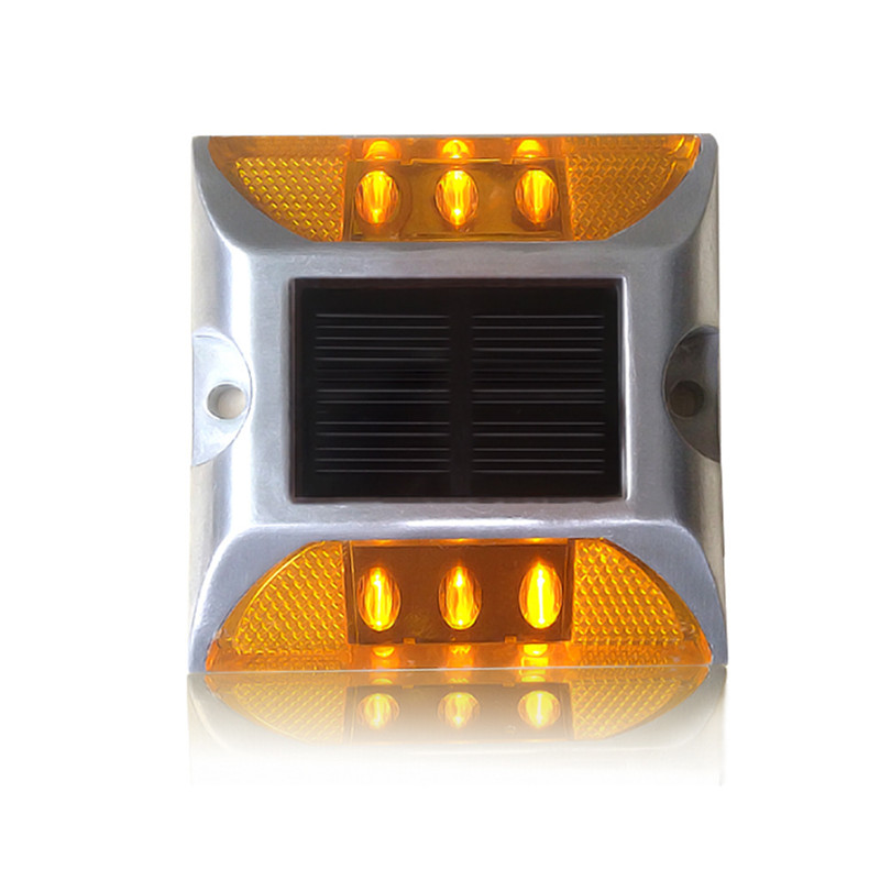 New design Bright Aluminum LED Solar road stud / reflective blinking road marker