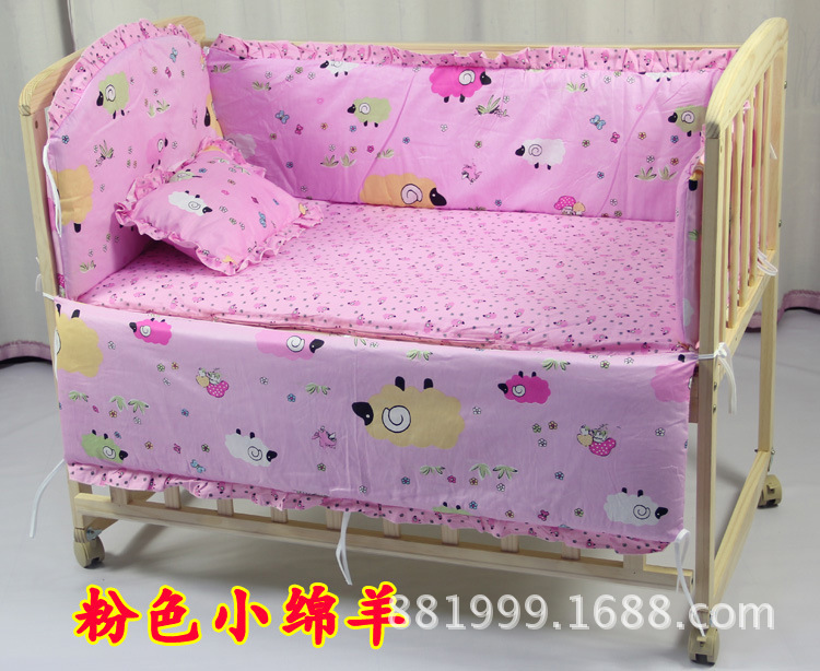 Promotion 7pcs baby bedding set curtain berco crib bumper baby bed set bumper duvet matress pillow