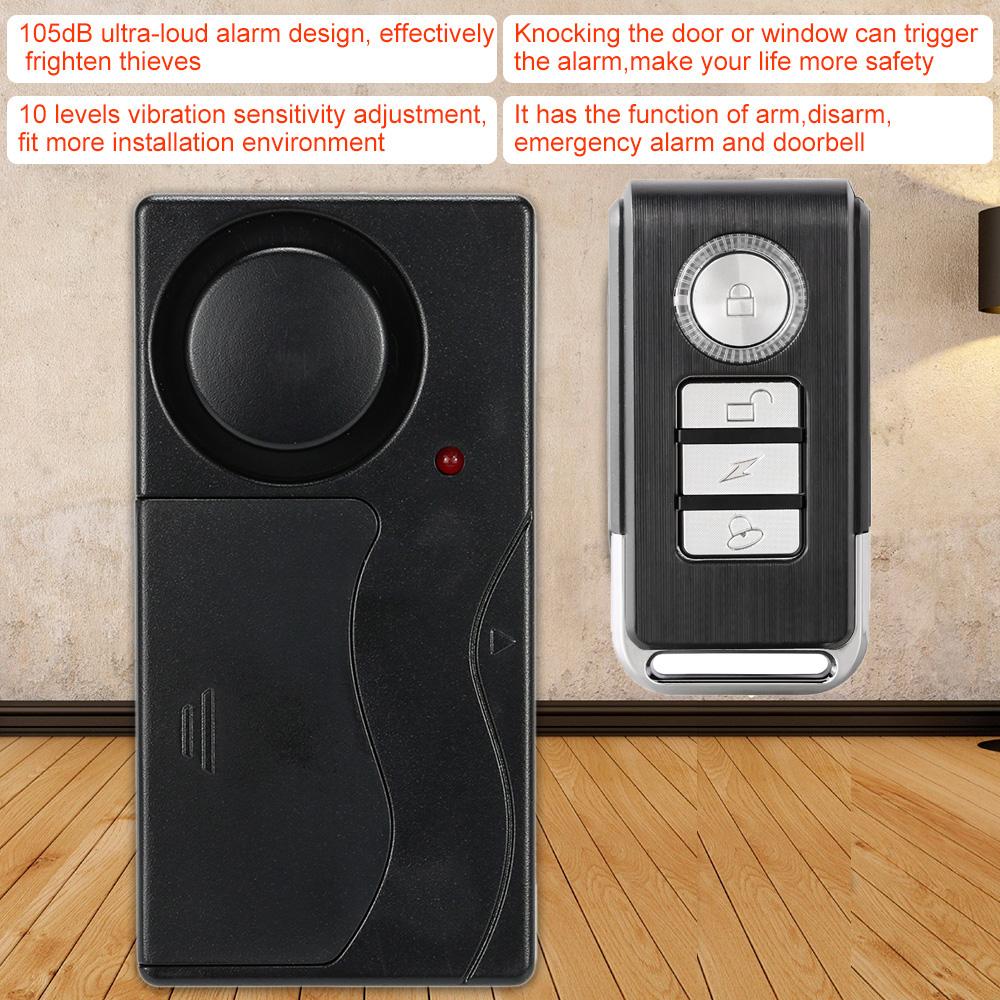 Alarma Para Bicicleta Alarmas Ventanas Moto Puerta Vibracion Scooter Seguridad