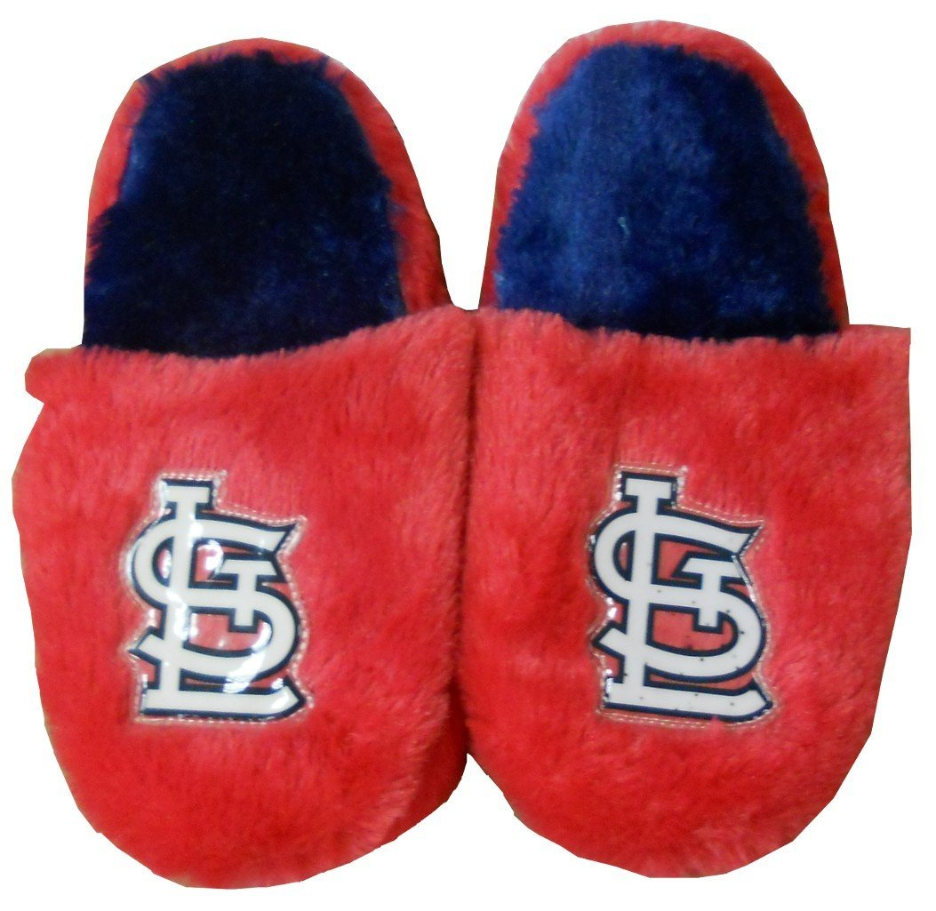 1c6cfade0 Get Quotations · St. Louis Cardinals MLB Girls Fuzzy Red Slippers Youth  Sizes