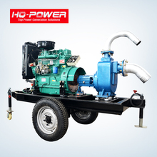 Diesel engine driven self priming portable diesel water pump