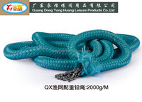 fishing net rope fishing net lead line with braided PP lead rope