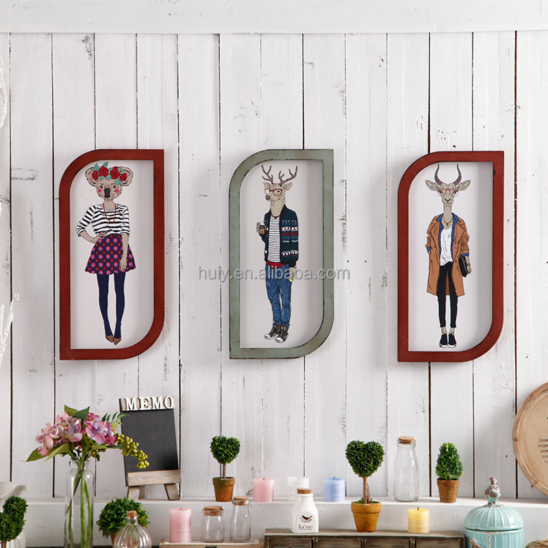 2016 new vintage wooden signs home decor