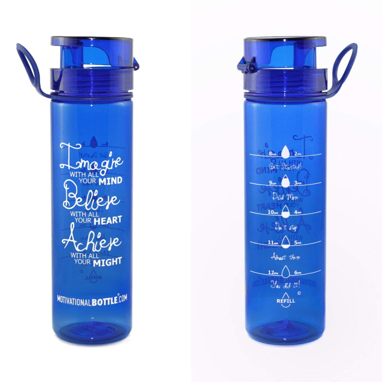 14225c08b6 Get Quotations · Motivational Bottle - 27oz Flip Lid Water Bottle | Fitness  -Workout-Sports Bottle