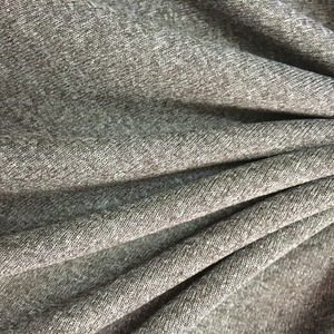 heather grey polyester pongee dobby fabric rib fabric