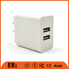 Wholesale 5v 1a 2a 2.4a UL FCC double usb travel mobile cell phone portable home wall charger for samsung