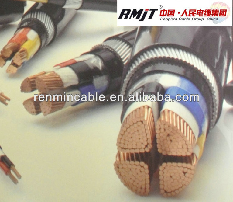 0.6/1kv copper/aluminum Cconductor pvc insualted power cable/armoured cable