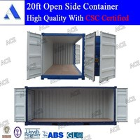 curtain side container for opening