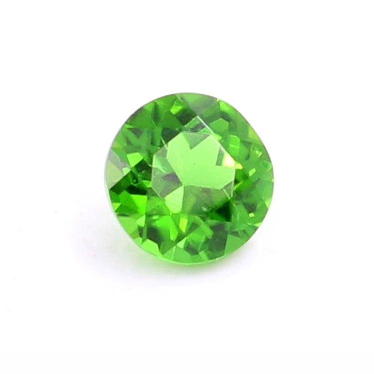 green gemstone natural round 3mm chrome diopside gemstones factory price
