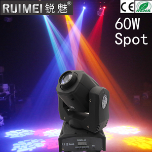 60w led moving head beam light Hot sale Disco bar DMX led stage lighting spot watt mini