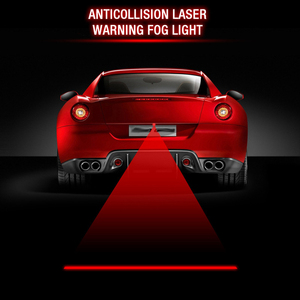 EURS new popular universal car rear fog lamp 24V 12V red anticollision laser warning fog light